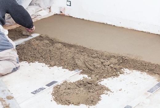 Толщина бетонной стяжки в доме