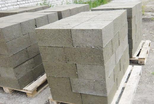 Цементные опилкоблоки