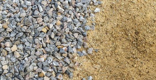 Песок и щебенка