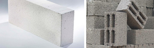 Блоки из разных материалов