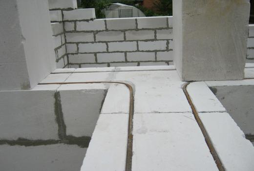 Армирование газобетонной стены