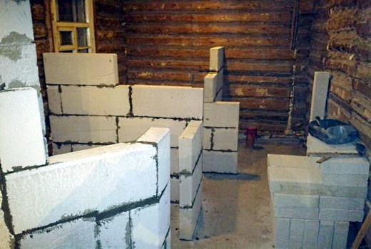 Внутренняя стена из керамзита