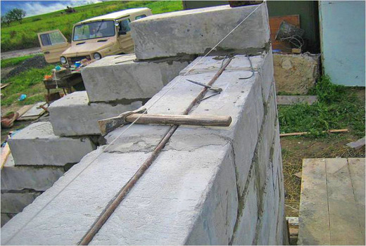 Арматура в строительстве из пеноблоков