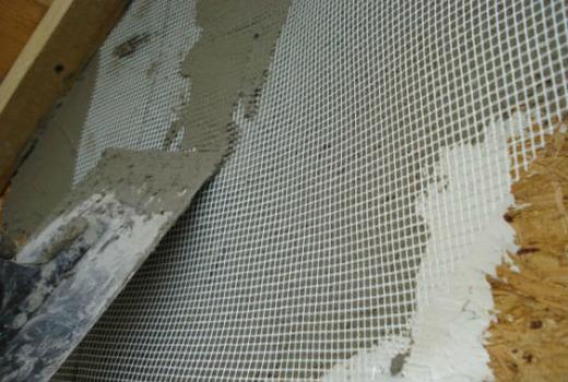 Армирование штукатурки сеткой