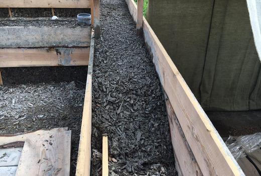 Заливка бетона из арболита