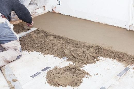 Цементно-песчаное основание под пескобетон