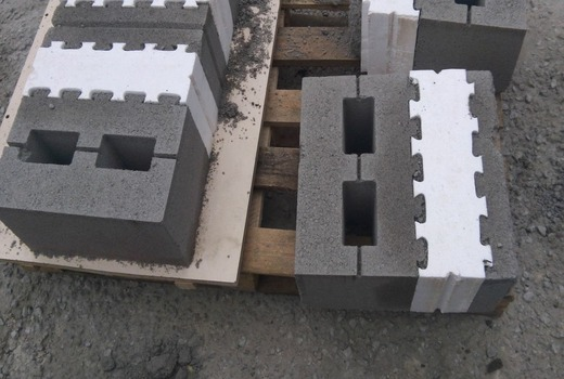 Совместная стена с газобетона и керамзитобетона