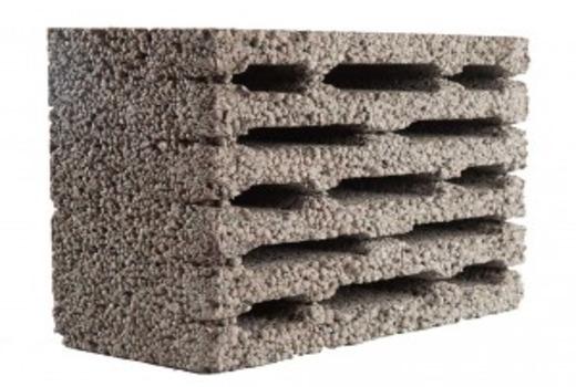 Многощелевой керамзит-блок
