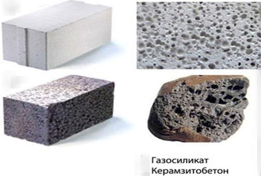 Газосиликатные  керамзитбетонные блоки