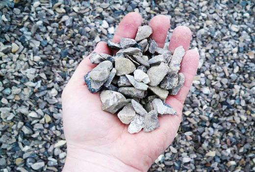 Щебень в бетоне