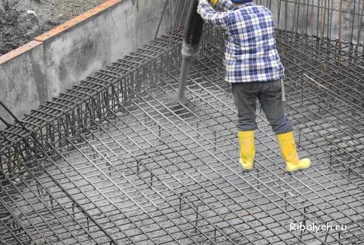 Заливка железобетонных конструкций