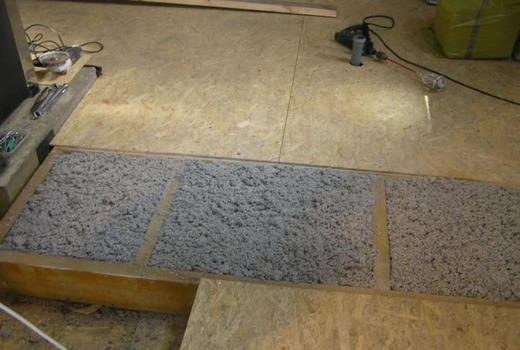 Цементно-песчаная смесь для основы под арболит