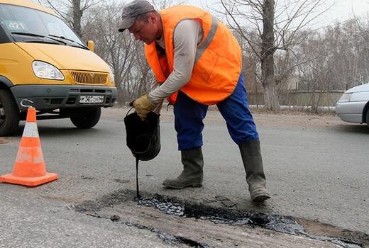 Ремонтные работы на дороге