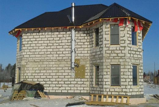 Строение высоких домов из газоблоков