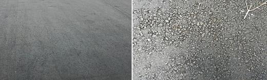 Асвальтобетон до и после водонасыщения