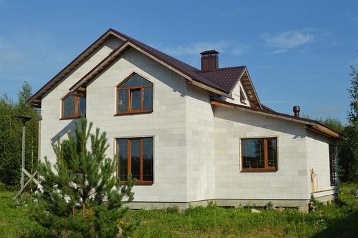 Готовый дом из газосиликатных блоков