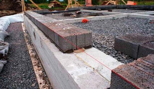 Фундамент для дома из керамзитных блоков