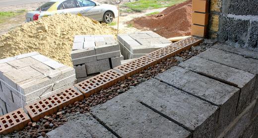 Пример строительства из керамзитобетонных блоков