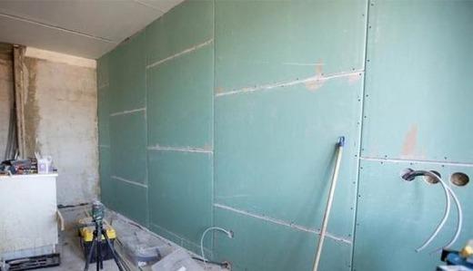 Гипсокартон на стене из пеноблоков