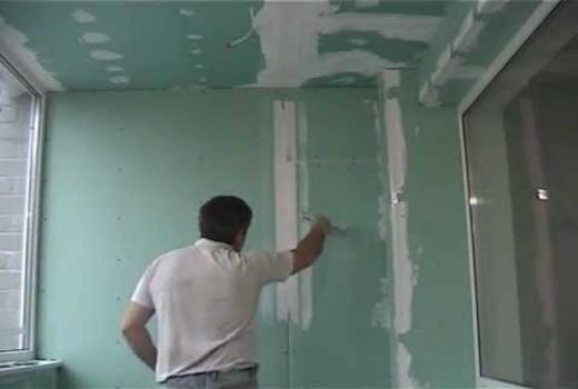 Крепление листа к стене