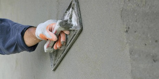 Штукатурка пескобетоном
