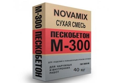 Сухой пескобетон М300 Новомикс