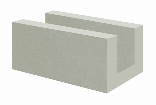 Блок газобетонный U-образный