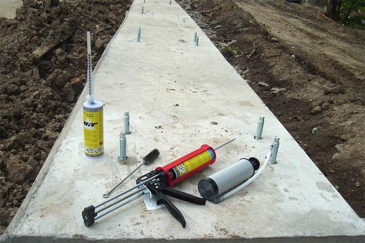 Инструменты для установки химического анкера