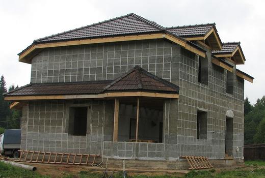 Монолитный дом из пенобетона