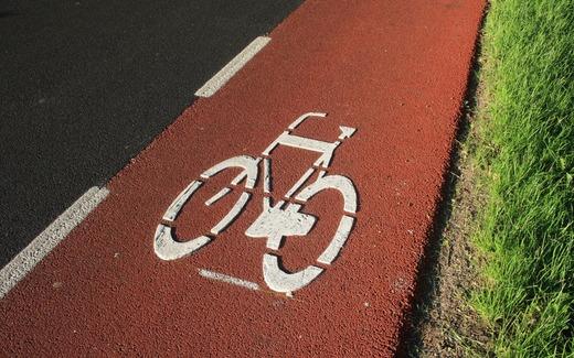 Цветная велосипедная дорожка