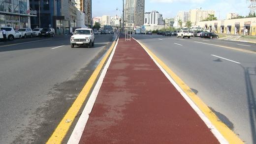 Цветные асфальто-бетонные покрытия - нововведение дорожного хозяйства Баку