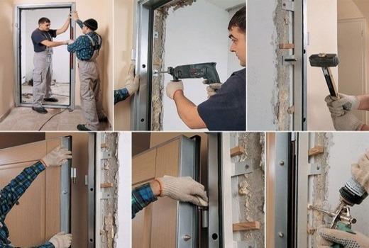 Материалы и инструменты для установки двери