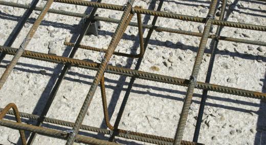 Арматурные пруты в бетон