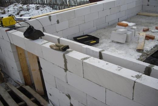 Технология укладки стен