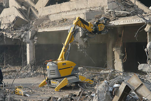 Разрушение машинными аппаратами