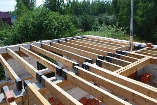 Деревянные перекрытия в домах из газобетона