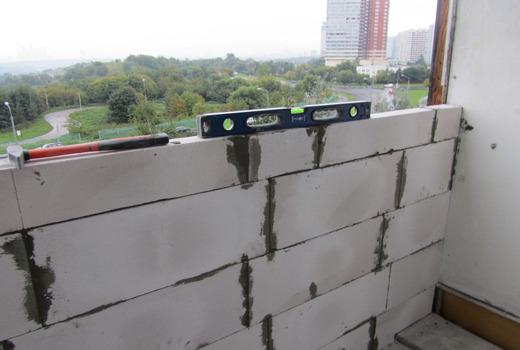 Толщина стены из пеноблоков