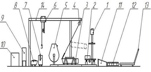 Чертеж станка для блоков из арболита