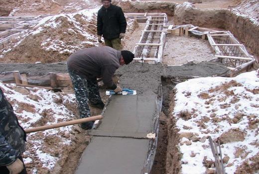 Применение бетона м150 зимой