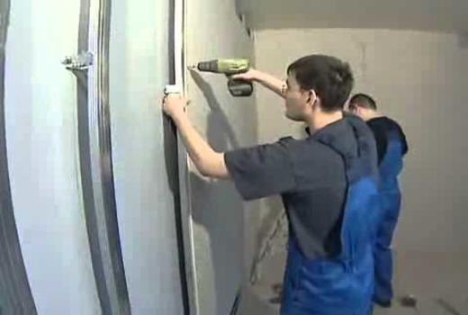Монтирование гипсокартонных листов на искривлённую поверхность