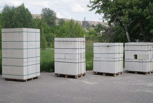 Вес поддона с газобетонными блоками