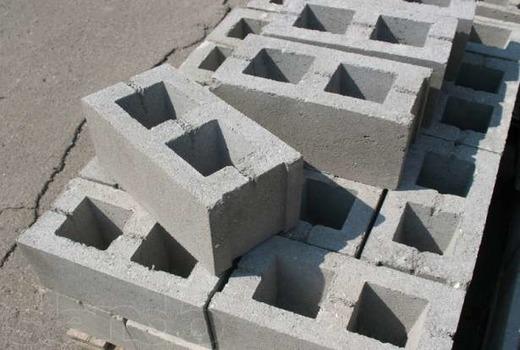 Применение пустотелых блоков