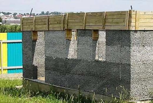 Керамзитобетон монолит стены допустимая высота сброса бетонной смеси в опалубку
