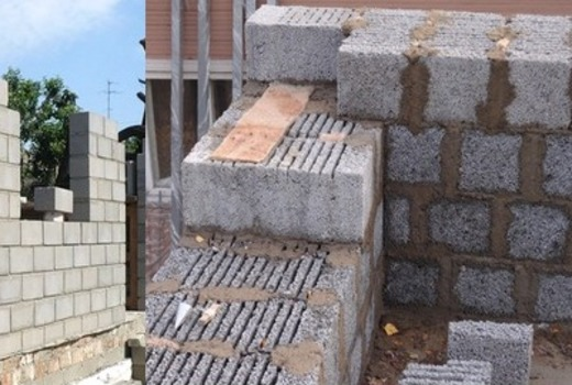 Средняя толщина стен