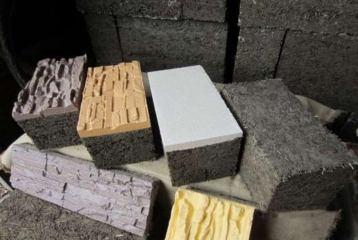 Цемент и опилки в составе арболита