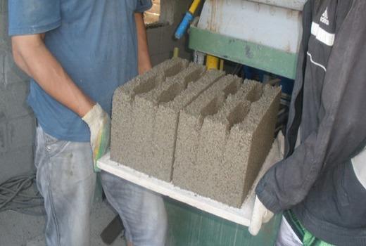 Песчано-бетонные блоки