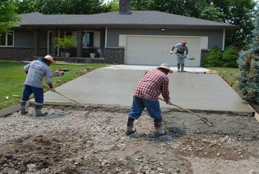 Работа по бетонированию
