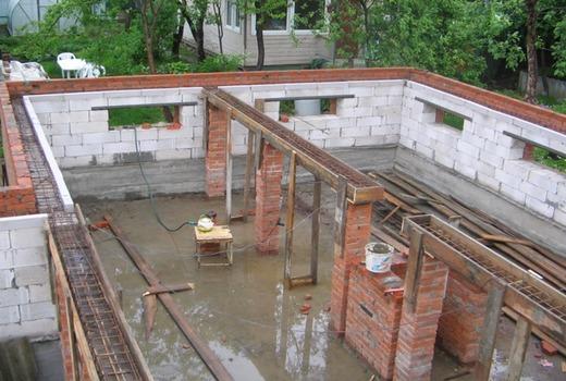 Применение опалубочного сооружения
