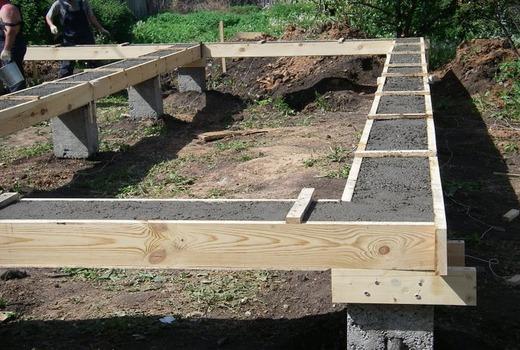 Простая малозаглубленная лента из бетона