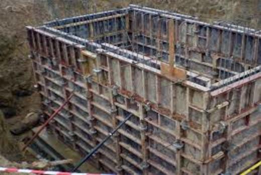 Опалубочная конструкция для заливки фундаментных оснований